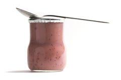 Frasco do iogurte Fotos de Stock Royalty Free