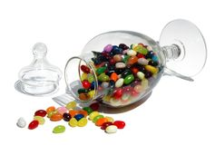 Frasco do Jellybean Imagem de Stock