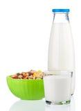 Frasco do leite Imagem de Stock
