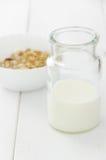 Frasco do leite Fotografia de Stock