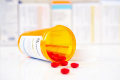 Frasco do medicamento de venta com receita de RX Fotografia de Stock