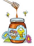 Frasco do mel Imagem de Stock