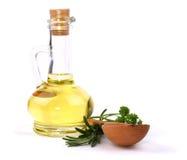Frasco do petróleo vegetal Imagem de Stock Royalty Free