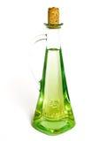 Frasco do petróleo verde-oliva fotografia de stock royalty free