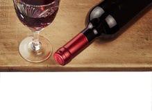 Frasco do vinho isolado no fundo branco Fotografia de Stock