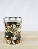 Frasco dos botões Imagens de Stock Royalty Free