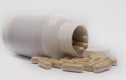 Frasco dos comprimidos Imagem de Stock
