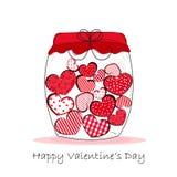 Frasco dos corações, Valentine& feliz x27; ilustração do vetor do cartão do dia de s ilustração do vetor