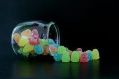 Frasco dos doces Fotografia de Stock