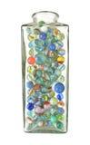 Frasco dos mármores Fotografia de Stock