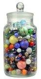 Frasco dos mármores Imagem de Stock Royalty Free