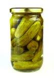 Frasco dos pickels Imagem de Stock Royalty Free