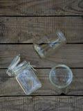 Frasco e garrafas vazios diferentes Imagem de Stock Royalty Free