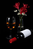Frasco e vidro de vinho Imagem de Stock Royalty Free