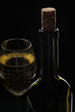 Frasco e vidro de vinho Foto de Stock