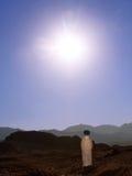 Frasco no deserto Fotografia de Stock Royalty Free