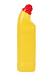 Frasco plástico amarelo Fotografia de Stock Royalty Free