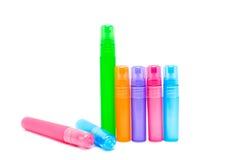 Frasco plástico colorido Fotografia de Stock