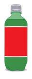 Frasco plástico com etiqueta imagem de stock royalty free