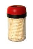 Frasco plástico com toothpicks. Imagens de Stock
