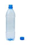 Frasco plástico vazio Fotografia de Stock