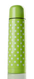 Frasco termo de acero de los stainlees del color verde Fotos de archivo