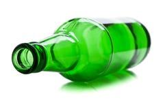 Frasco verde e de vidro Fotografia de Stock Royalty Free