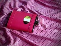 Frasco y alineada rosados Fotografía de archivo libre de regalías