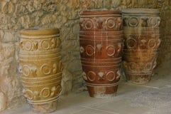 Frascos antigos em Knossos Imagem de Stock Royalty Free