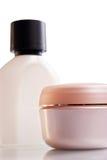 Frascos Assorted dos cosméticos Imagem de Stock Royalty Free