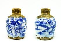 Frascos chineses antigos Foto de Stock Royalty Free
