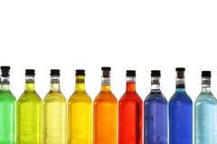 Frascos coloridos fotografia de stock royalty free