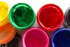frascos com pintura do guache Foto de Stock