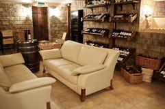 Frascos com vinho velho Fotos de Stock Royalty Free