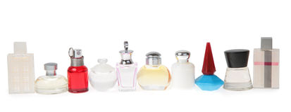 Frascos con perfume Imagen de archivo libre de regalías