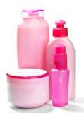Frascos cor-de-rosa para cosméticos fotos de stock royalty free