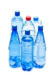 Frascos da água isolados Fotografia de Stock