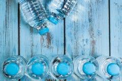 Frascos da água mineral Fotos de Stock Royalty Free