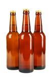 Frascos da cerveja isolados no branco Imagens de Stock Royalty Free