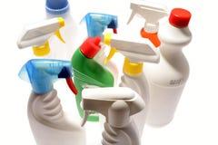 Frascos da limpeza Imagem de Stock