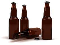 Frascos de cerveja Fotos de Stock Royalty Free