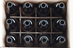 Frascos de cerveja vazios Foto de Stock