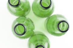 Frascos de cerveja vazios Fotografia de Stock