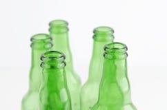 Frascos de cerveja vazios Fotos de Stock Royalty Free