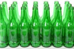 Frascos de cerveja verdes Imagem de Stock Royalty Free