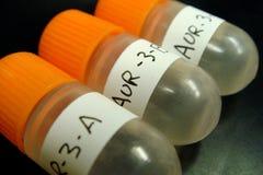 Frascos de la muestra foto de archivo libre de regalías