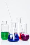 Frascos de la química fotos de archivo