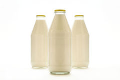 Frascos de leite Fotos de Stock
