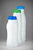 Frascos de leite Fotografia de Stock Royalty Free