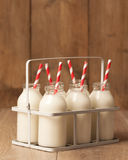Frascos de leite do vintage Imagem de Stock Royalty Free
